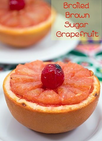 Broiled Brown Sugar Grapefruit, We Are not Martha. I don't even know ...