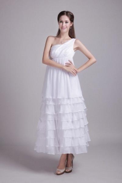 Elegant Ein-Schulter-A-Line Brautjungfern Kleid ba2649 - http://www.brautmode-abendkleid.de/elegant-ein-schulter-a-line-brautjungfern-kleid-ba2649.html - Ausschnitt: Eine Schulter. Stoff: Chiffon. Ärmel: Ärmellos. Farbe: Weiß. Silhouette: A-Line. - 132.59