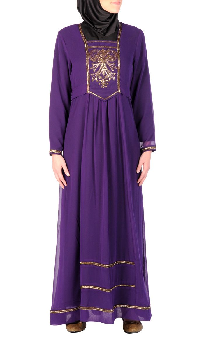 Princess Embroidered Abaya Dress