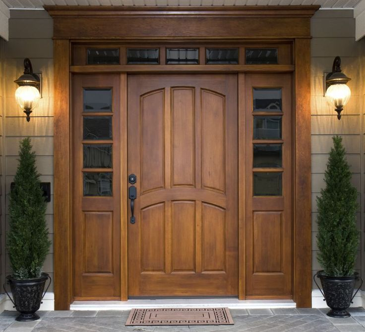 Exterior, Cool And Fancy Entry Door Designs: Stylish Wooden Front Door  Inspiration With Cheerful