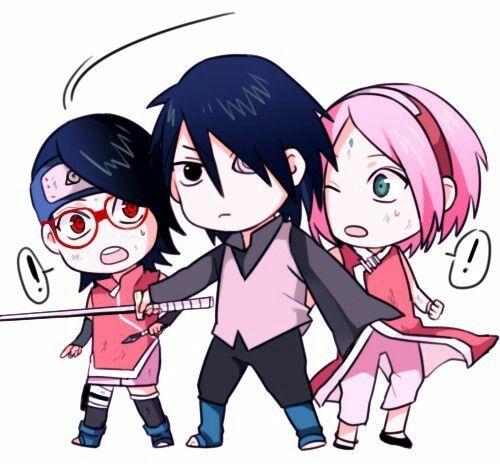 Sasuke en plan: '¡NADIE va a a hacerle NINGUN pequeño rasguño a mi preciosa hija ni a mi amada esposa!' Xdxdxd