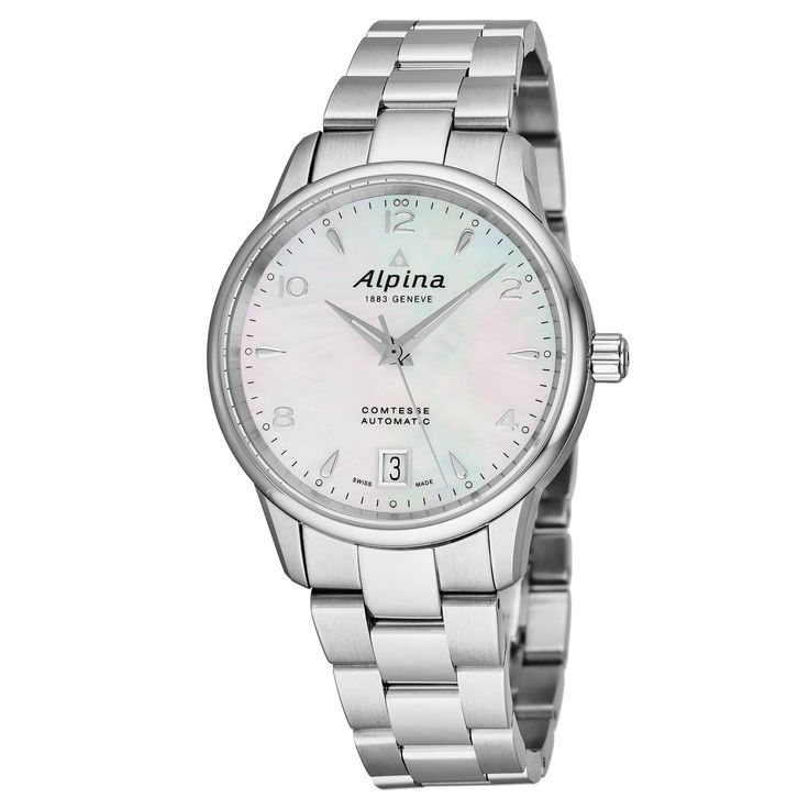 Alpina Women's AL-525APW3C6B 'Comtesse' Mother of Pearl Dial Swiss Automatic Watch