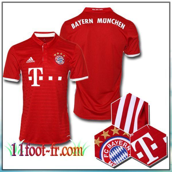 Maillot de Foot FC Bayern Munich Domicile Rouge 16-17