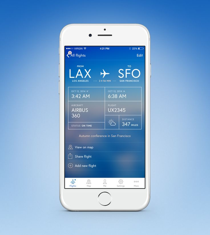 Flight Log App - by Mattias Johansson on Dribble