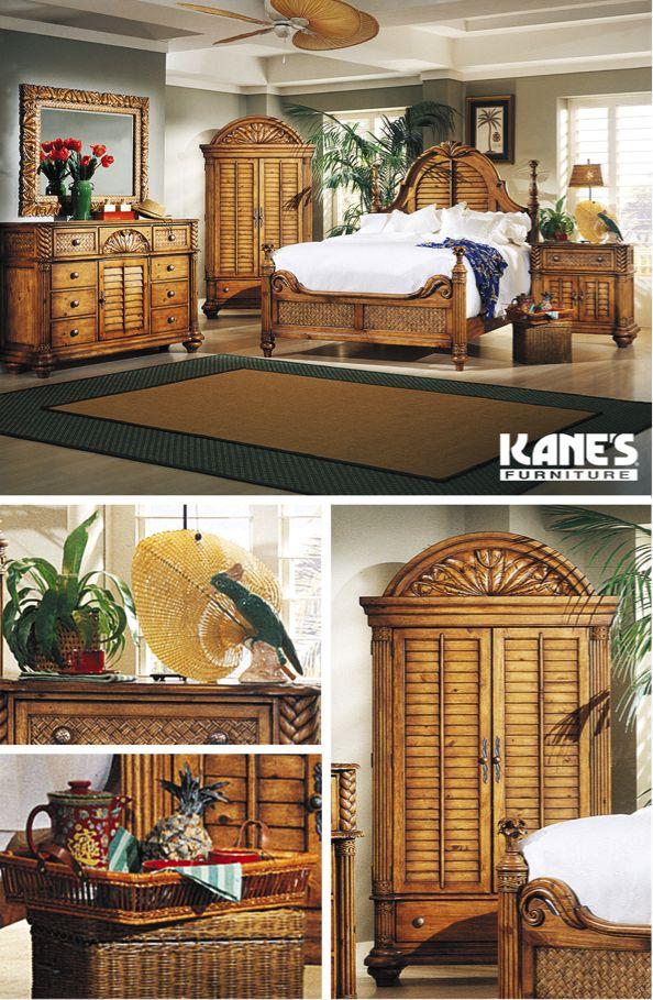 Palm Court King Bedroom With Door Dresser. 102 best Summer Decor images on Pinterest   Bedroom furniture