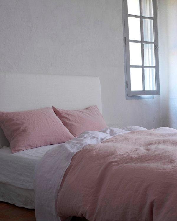 Cassis Rose 100% Linen Washed Bed Linen