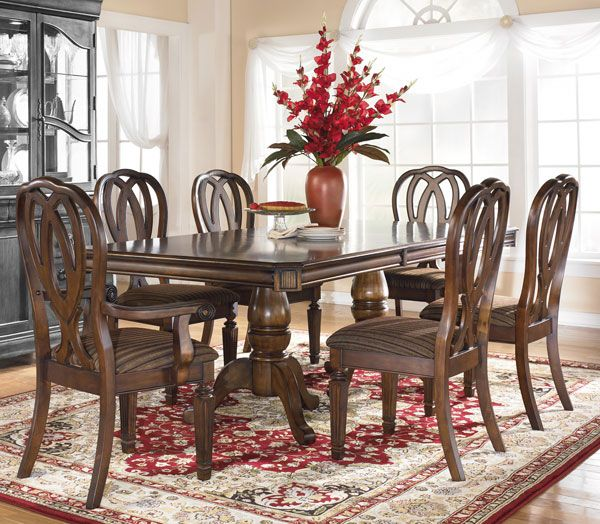 american furniture warehouse virtual store d527 tbl d527 tbl hamlyn cherry pedestal table. Black Bedroom Furniture Sets. Home Design Ideas