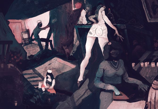 Illustration to Pelevin - Ilya Shkipin