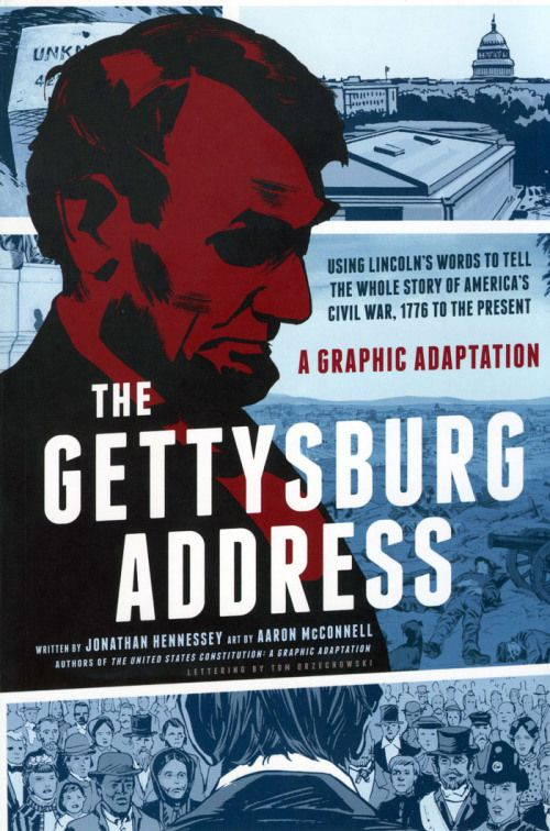 This graphic novel on the Gettysburg Address is bursting at the seams with information. Not only does it explain the Gettysburg Address word by word, but it also goes in depth to look at the events surrounding (and even after) that fateful day. Anyone who enjoys civil war history will love this interpretation - and any student needing information for a project will definitely find plenty here.