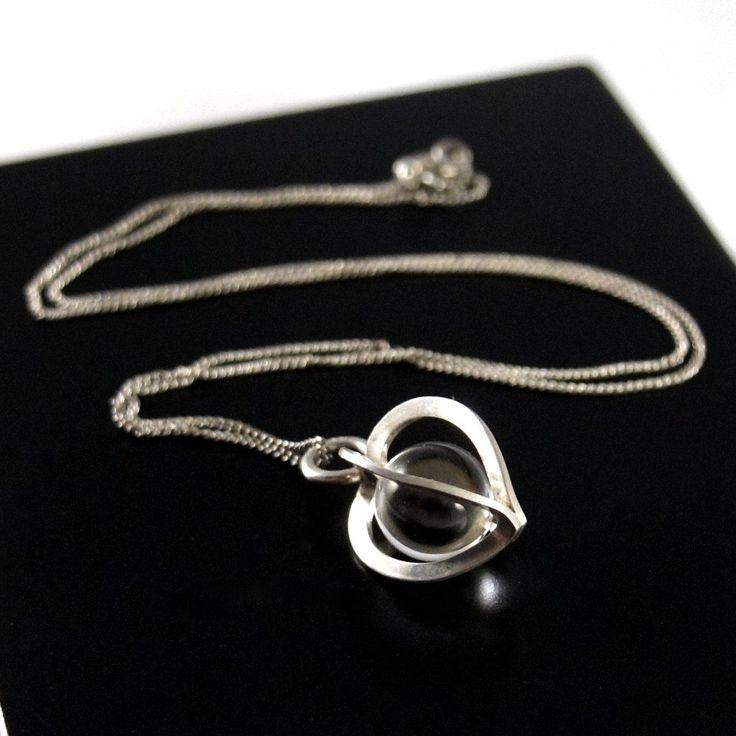 Elis Kauppi Caged Heart necklace, Rock Crystal Kupittaan Kulta