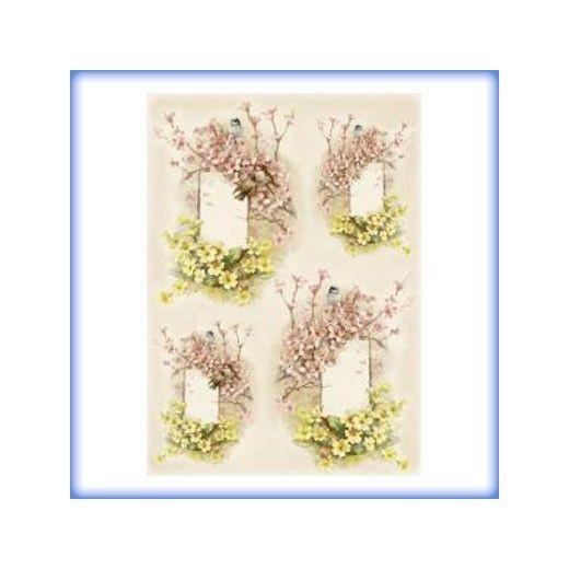 carta da decoupage cm 35x50 fiori alle finestre