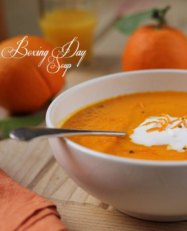 Carrot, orange & cardamon soup - just substitute the butter and omit the cream to make vegan