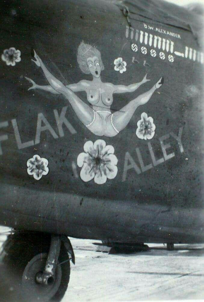 "B-24 Liberator ""Flak Alley nose art"