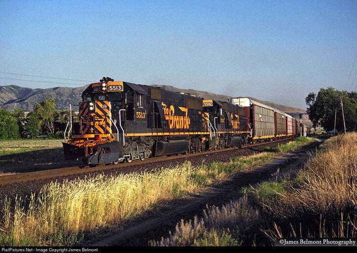 RailPictures.Net Photo: DRGW 5513 Denver & Rio Grande Western Railroad EMD SD50 at Draper, Utah by James Belmont