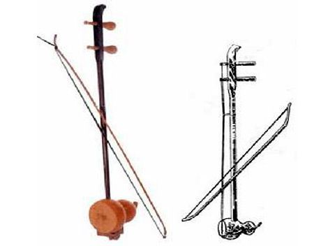 "the music instrument present in the huqin family China facts information on chinese musical instruments with detailed message and  also called ""huqin  the well-known music ""two springs reflect the."