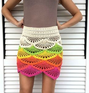 Click to view pattern for - Crochet colorful skirt