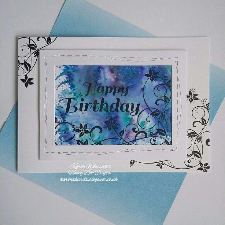 Happy birthday flourish from Honey Doo Crafts  #honeydoocrafts #happybirthdayflourish #dtsample #pixiepowders #flowers #stamps #stamping #card #creative #craft #ilovetocraft #creativity #karenzkardz