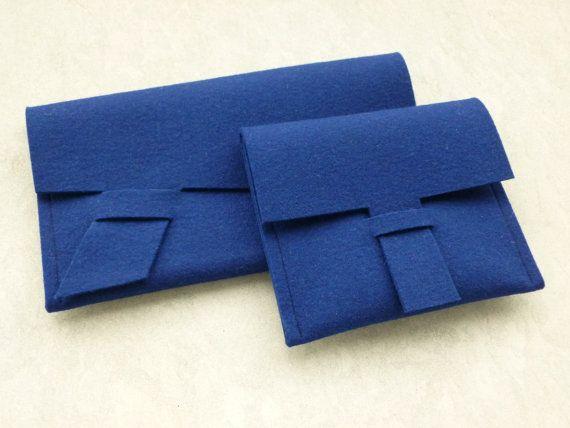 ArtAK ROYAL BLUE Wool Felt Clutch