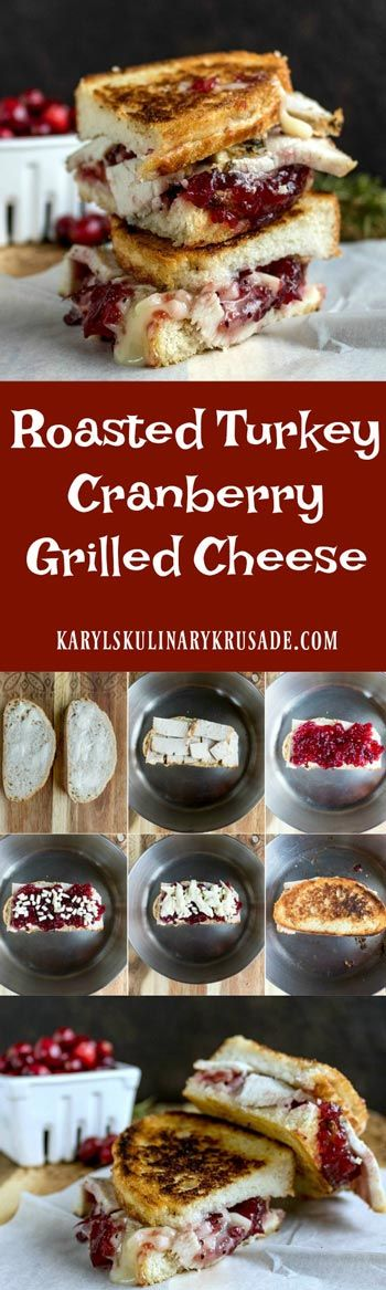 Roasted Turkey Cranberry Grilled Cheese is a delic…Edit description