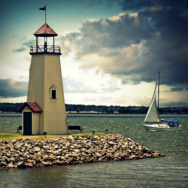 Hefner Lighthouse in Oklahoma City by Bowman!, via Flickr