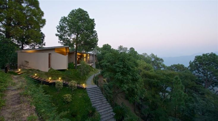 A Modern Concrete House in the Himalayas