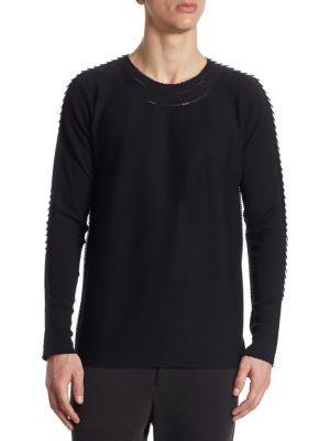 ISSEY MIYAKE Regular Fit Wool Sweater. #isseymiyake #cloth #sweater