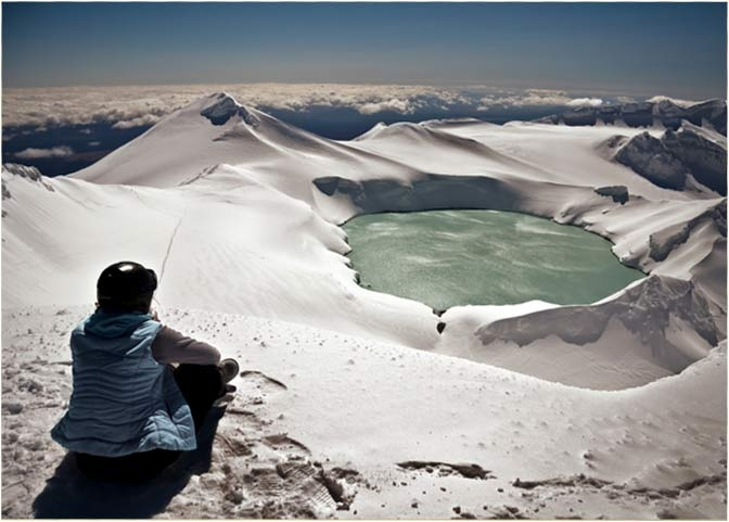 Crater Lake, Ruapehu, Ohakune NZ