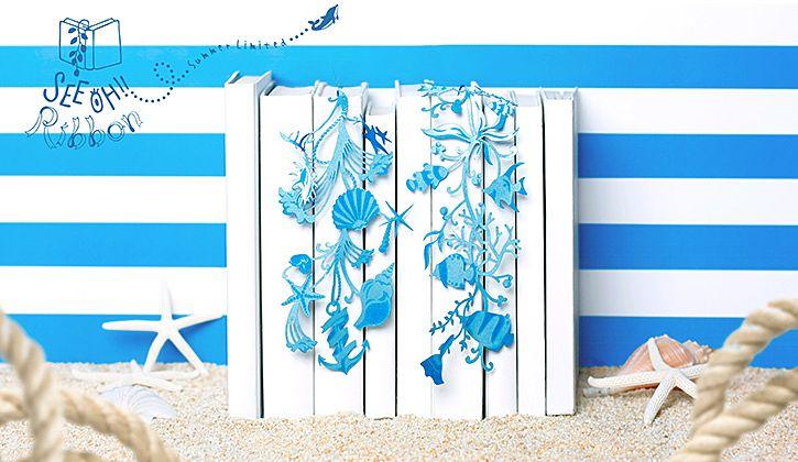 夏のデザインは「海」 海の魚や貝殻など 細かいデザインが素...