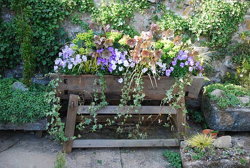 This would look great in my backyard.: Backyard Ideas, Garden Decor, Container Gardens, Culp S Garden, Garden Art, Garden Dreams, Container Gardening