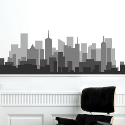 Sticker decorativ Shades of Grey Skyline