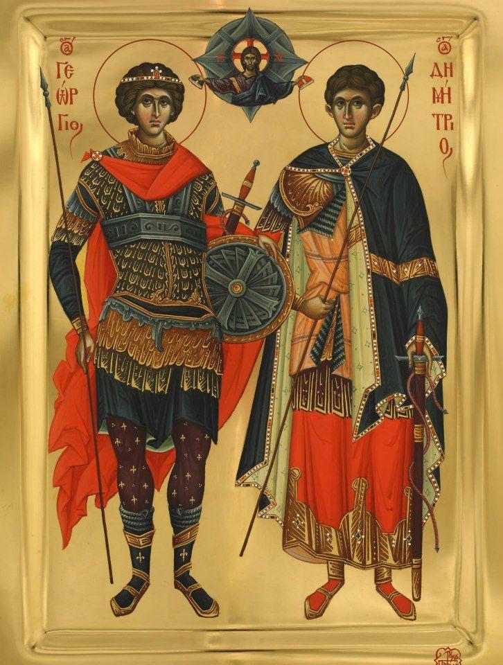 Heilige Joris en heilige Demetrios