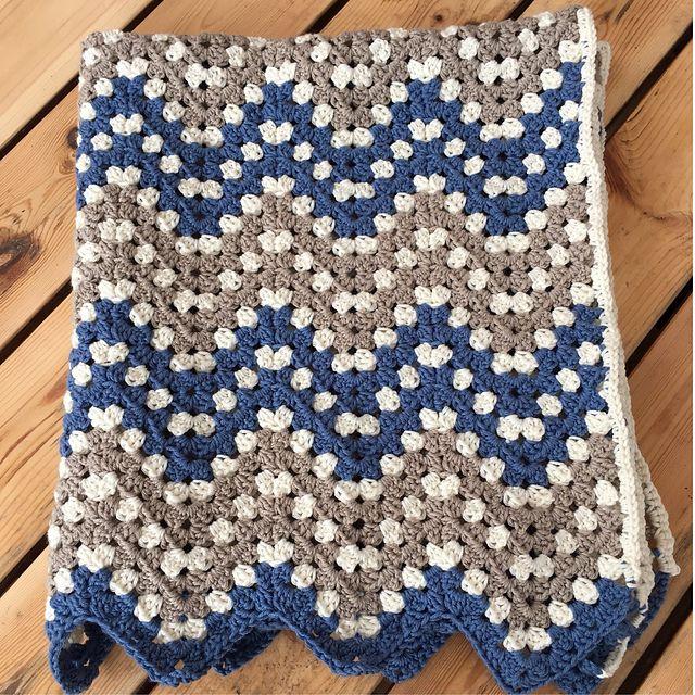 Ripple Waves Baby Blanket Crochet Pattern #crochetideas #crochetlove #crochetafghans