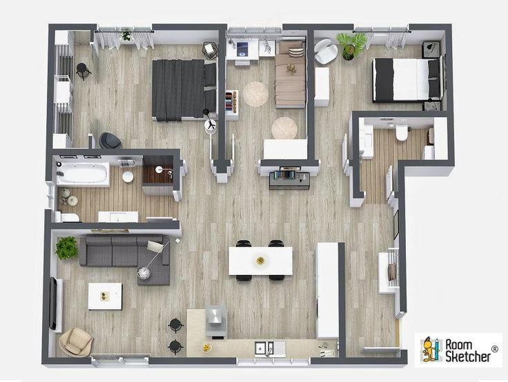 196 best real estate floor plans images on pinterest for Real estate floor plans software