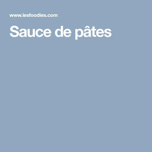 Sauce de pâtes