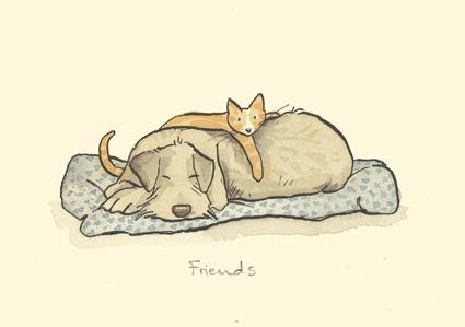 II massimo che posso fare per un amico è semplicemente essergli amico.  Henry David Thoreau   Art by Anita Jeram *** my little place