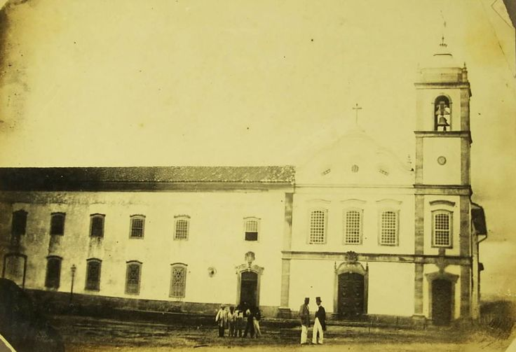 1860 - Mosteiro de São Bento. Foto de Militão Augusto de Azevedo.