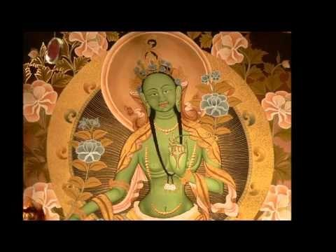 Tara Mantra chanted by Thubten Wangchen. OM TARE TUTTARE TURE SVAHA OM me postro ante la conquistadora trascendental Arya Tara. Homenaje a la gloriosa que co...