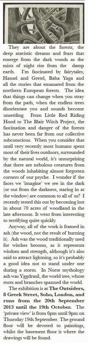 Bard Owls: Stanley Donwood and Spirits in the Forest