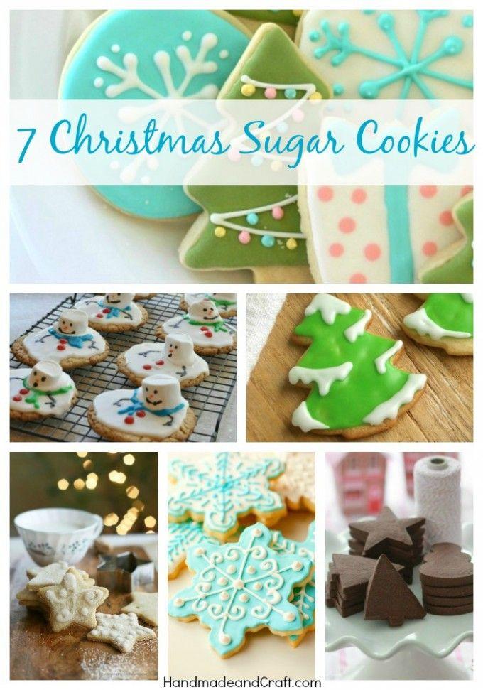 7 Christmas Sugar Cookies - Recipes and Inspiration on HandmadeandCraft.com