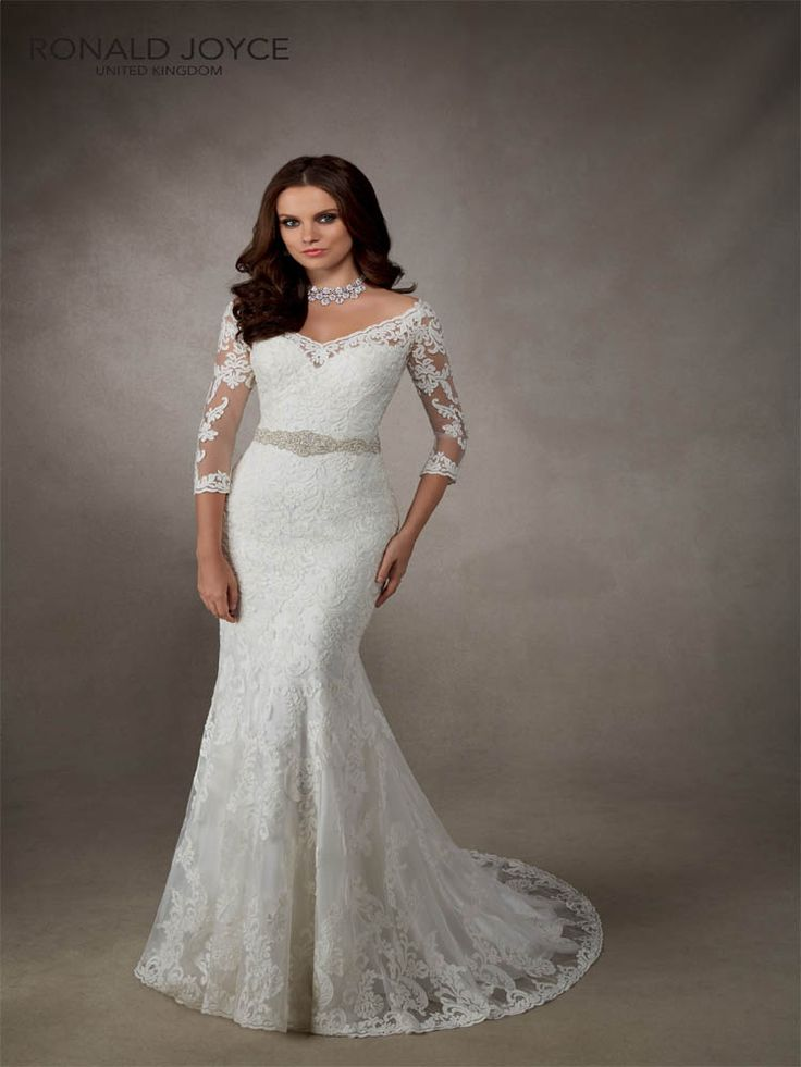 #RonaldJoyce #Alanna a beautifully detailed wedding gown with #sleeves #weddingdress #prudencegowns #DressingYourDreams #Plymout h #Exeter #Devon #Cornwall