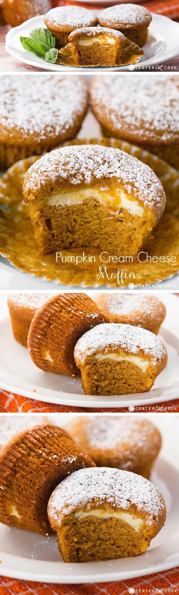Easy Pumpkin Cream Cheese Muffins recipe inspired by the Starbucks version!