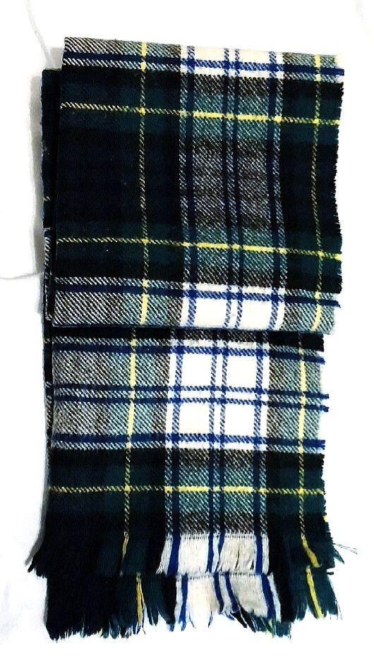 Vintage Classic- Scottish Plaid Fashion Scarf colors: Blue, Green, Black, White…