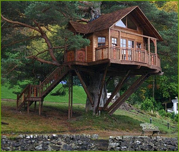 Kids Tree House Plans Designs Free 2283 best cool tree houses images on pinterest | treehouses