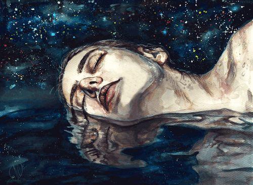 Spät in der Nacht weiß ich, dass es nur mich und den Himmel gibt, und ich spreche immer damit…