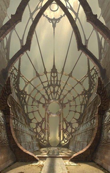 corridor: Fantasy, Art Nouveau, Portal, Windows, Doors Gates, Architecture, Beauty, Place, Spiders Web