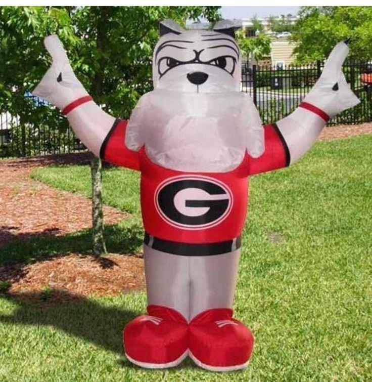 Huge 8 uga bulldogs inflatable football tailgate