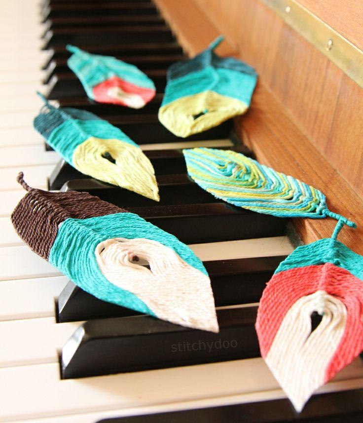 DIY | Federn aus Garn. // DIY Feathers made of yarn