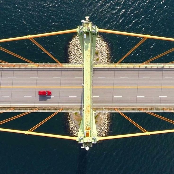 A different perspective - Aerial view over the bridge spanning the #Halifax Harbour. Compliments of @junkyarddog #Instagram -#drone #photography #novascotia  http://www.MervEdinger.com #RE/MAX nova #RealEstate