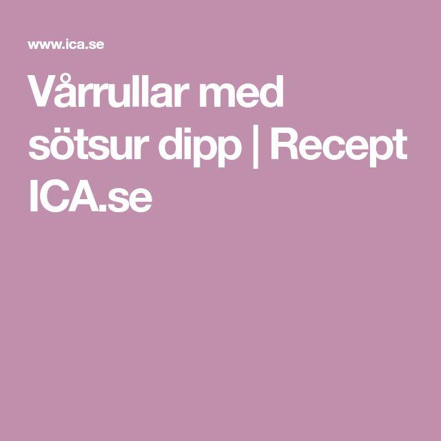 Vårrullar med sötsur dipp  | Recept ICA.se