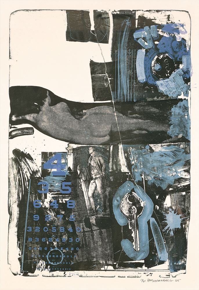 Robert Rauschenberg  Breakthrough II, 1965  Lithograph in 3 colors on pure rag 48 1/2 in. x 34 in. (123.19 cm x 86.36 cm) Publisher's seal embossed lower left Edition 34 ULAE